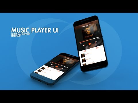 Music Player UI Speed Art Design