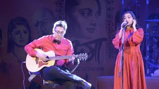aloshyo-live-by-surangana-at-uma-music-launch-event-anupam-roy-srijit-mukherji