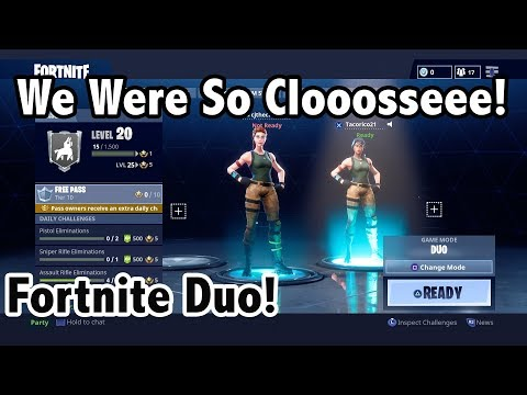 Victory Was Within Our Grasp.... But We Screwed It Up! Fortnite Duo Gameplay!