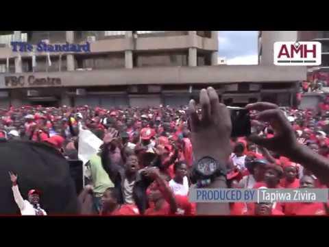 MDC-T supporters sing Tiripachirangano for Tsvangirai