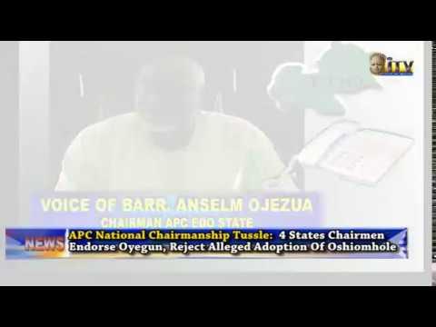 APC National Chairmanship Tussle: 4 states chairmen endorse Oyegun