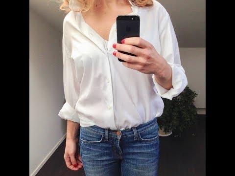 Минимализм и одежда : белая мужская рубашка!