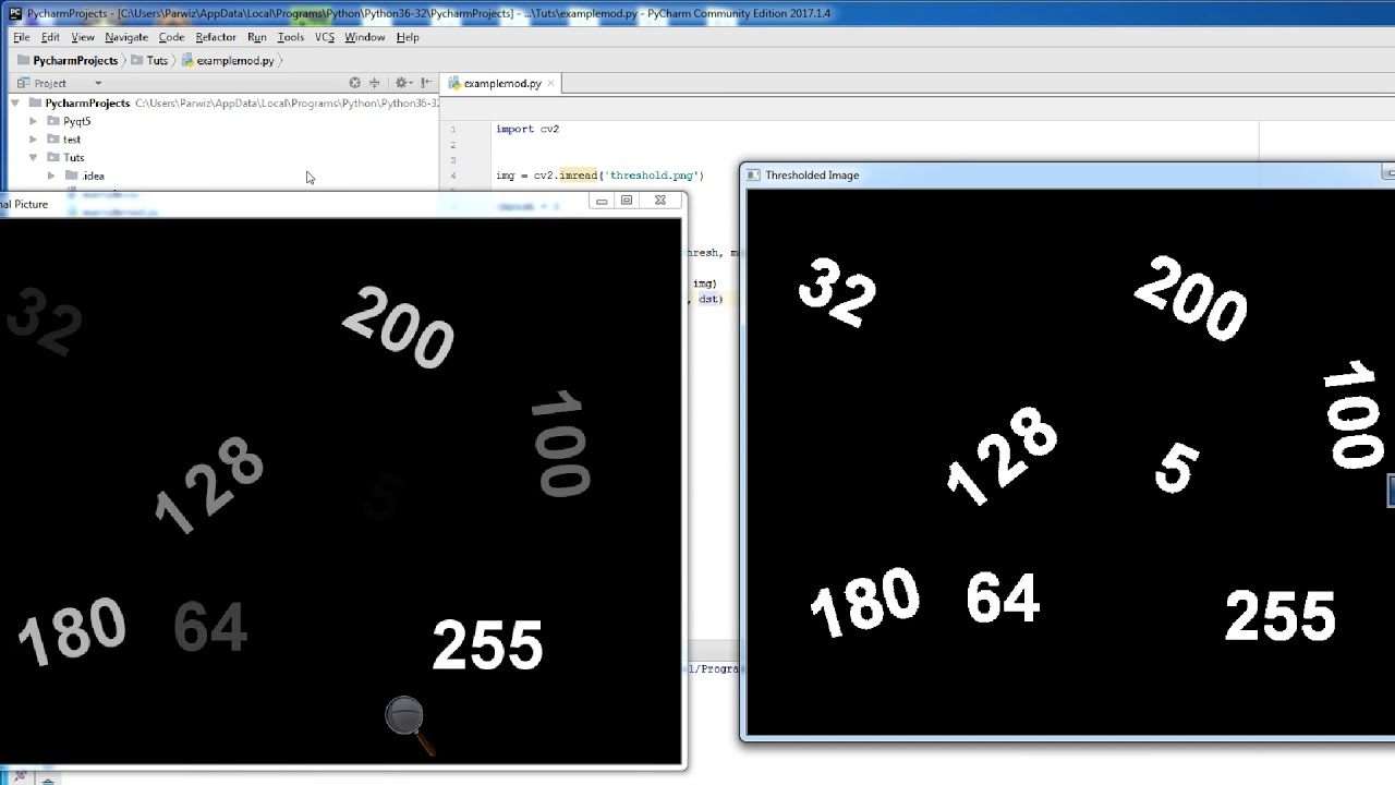 4 - OpenCV With Python 3 6 Thresholding Image And Diffrent Kind Of  Thresholding