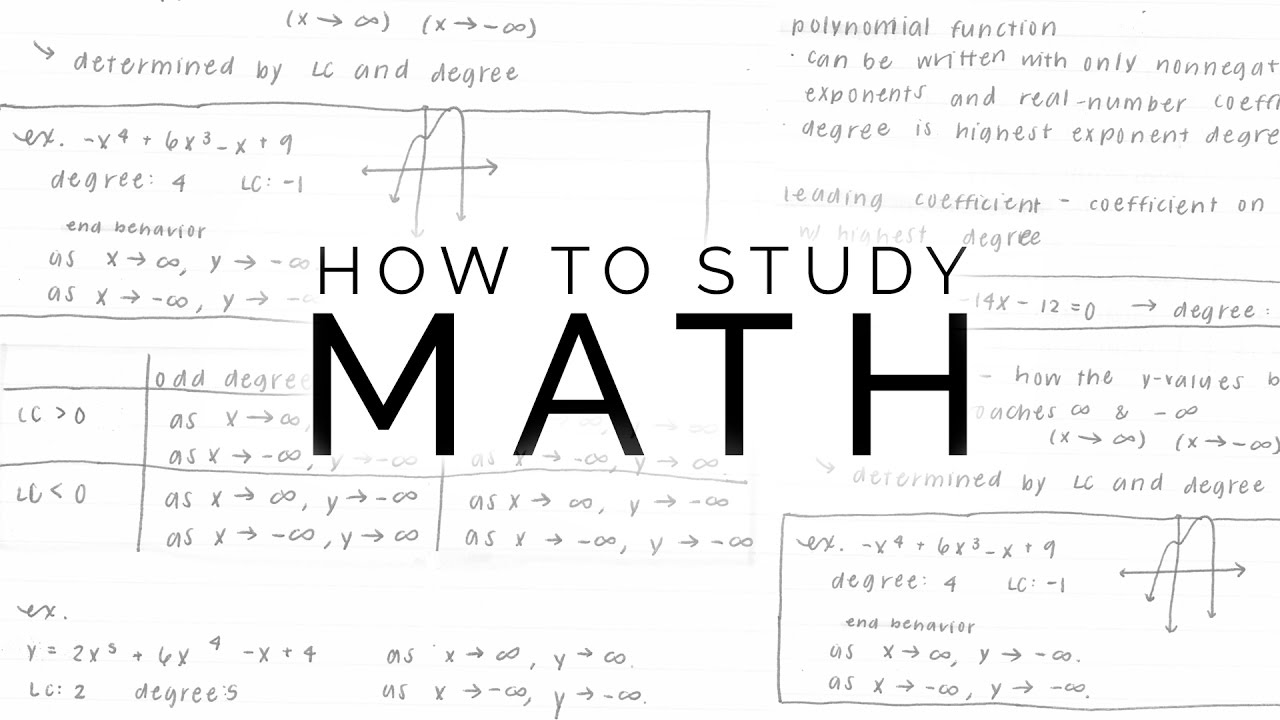 How To Study Math - YouTube