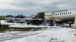 فيديو.. احتراق طائرة ركاب روسية على متنها 78 شخصًا