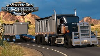 American Truck Simulator: Kenworth W900 dump truck and pup - Phoenix Arizona
