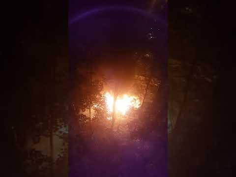 Сгорел Логан в Солнечногорске на ул.Вертлинская д.19 26.06.2019