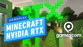 Minecraft: Nvidia RTX Ray-Tracing and High Fidelity Texture Pack Gameplay - Gamescom 2019
