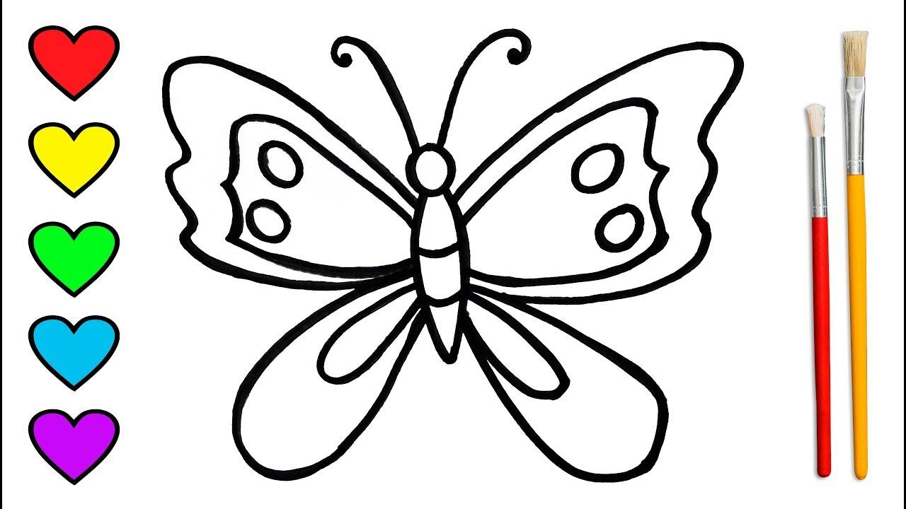rainbow butterfly 🌈 menggambar dan mewarnai untuk anak