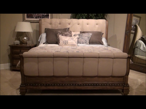 Touraine Upholstered Sleigh Bedroom Set By Fairmont Designs
