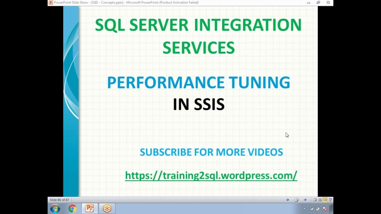 SSIS Performance Tuning Techniques and Tricks