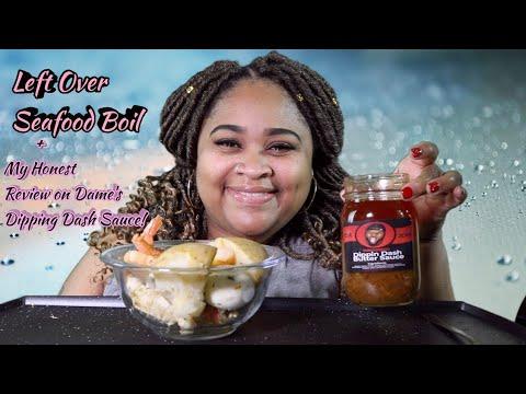 Flavas By Dame Dash Dippin Dash Sauce Review & Leftover Seafood Boil Mukbang!