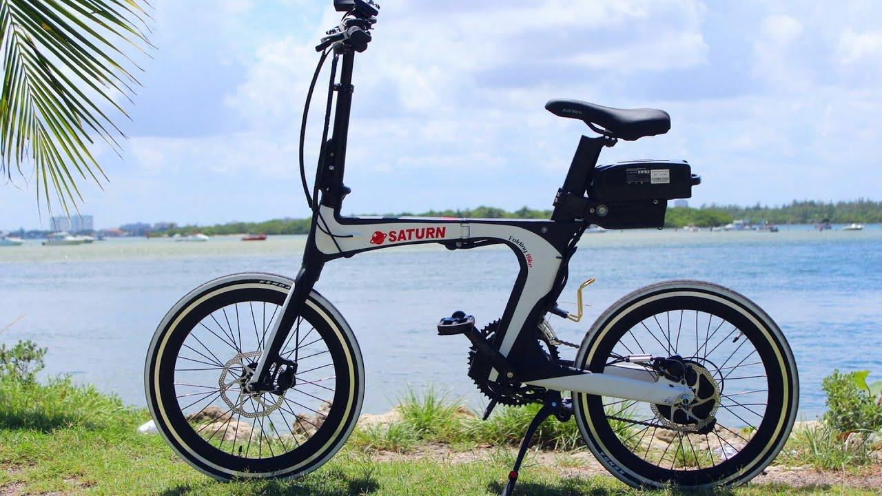 new saturn electric folding bike unfolding and folding. Black Bedroom Furniture Sets. Home Design Ideas