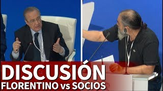 Las discusiones de Florentino con socios en la asamblea | Diario AS