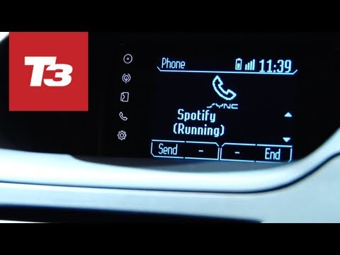 Spotify and Ford SYNC Applink hands-on preview