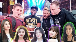 Asking NYC Strangers to Pick the Prettiest Red Velvet Member?!