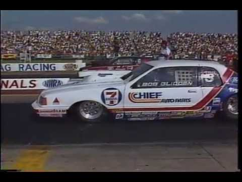 Drag Racing 1985 NHRA U S  Nationals PRO STOCK Semi Final Round