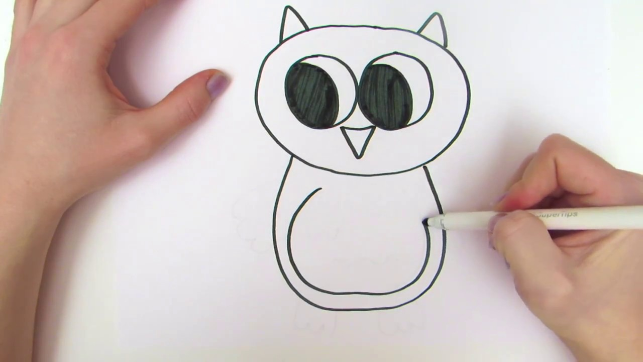 learn how to draw owl teach drawing for kids and toddlers