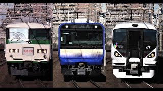 【成田臨やE235系を収録】総武快速線 稲毛駅を発着・通過する列車(E217・E235・209・255・E257・185系・EF65)を撮影