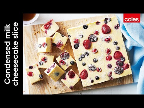 Condensed Milk Cheesecake Slice