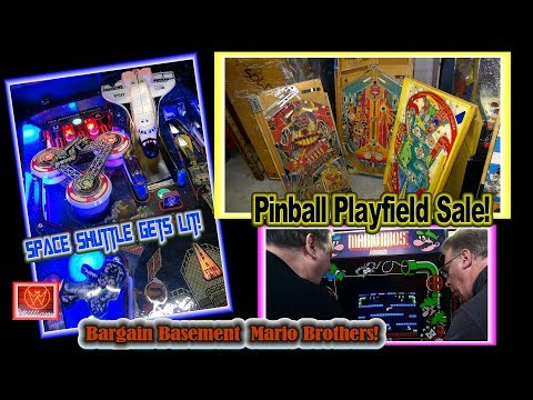 #1455 PINBALL PLAYFIELDS Sale-MARIO BROTHERS-TIME KILLERS Bargains-SPACE SHUTTLE-TNT Amusements