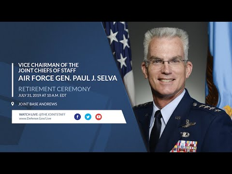 Vice Chairman Of The Joint Chiefs Of Staff Gen. Paul J. Selva's Retirement Ceremony