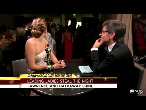 Jennifer Lawrence, Jack Nicholson Interruption Makes Waves After Oscars; Anne Hathaway on Big Wi