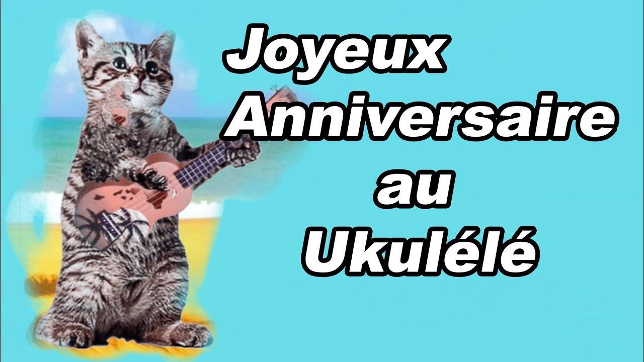 Joyeux Anniversaire Au Ukulele Joue Par Un Chat Youtube