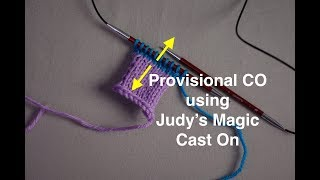 Provisional Cast On using Judy's Magic Cast On