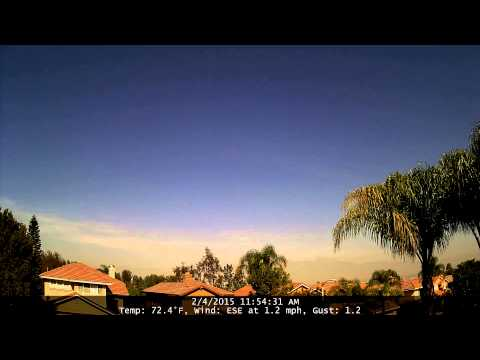 Chino Hills Time-Lapse 2/4/15