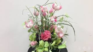 Arrangement2「職場をなごませるリボンの花でご挨拶」