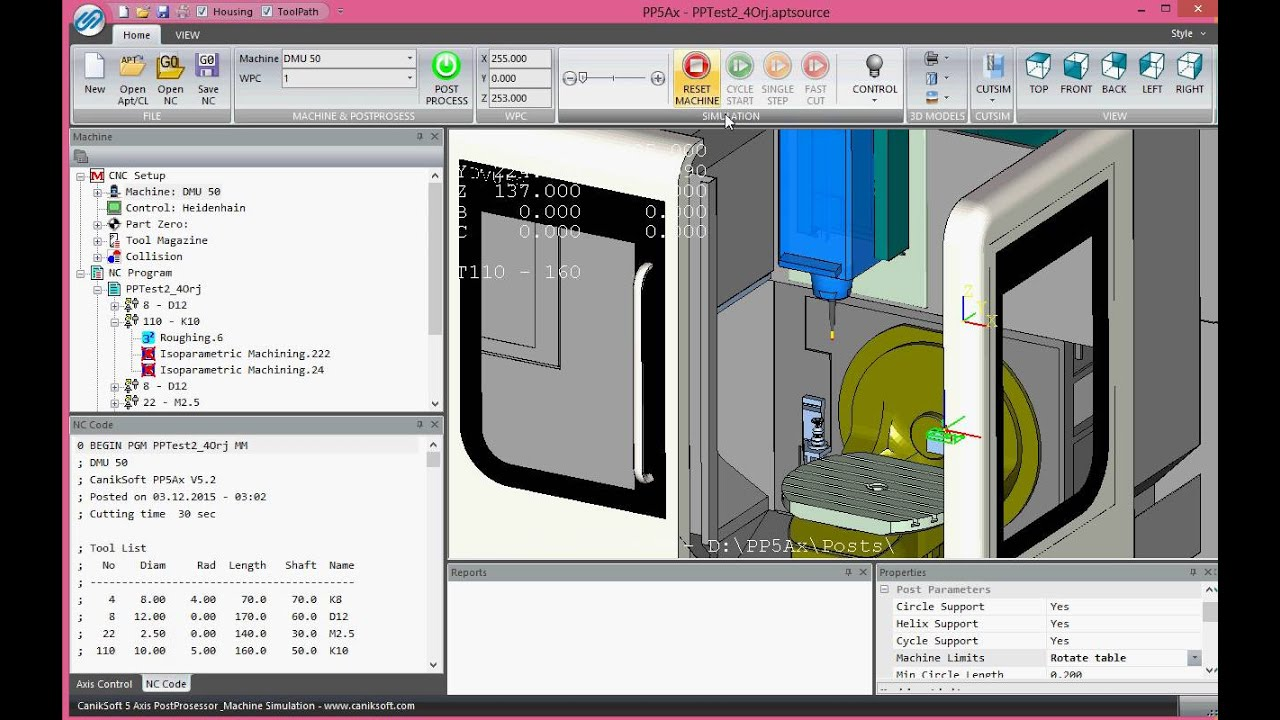 Caniksoft|CNC Post Processor|CNC Simulation|Probing|Turkey