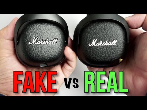 82173553e00 Fake vs Real Marshall Mid Bluetooth Headphones - How to spot a Replica and  Accessories Comparison