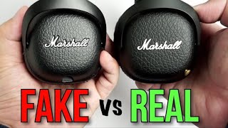 Fake vs Real Marshall Mid Bluetooth Headphones - How to spot a Replica and Accessories Comparison
