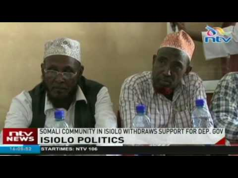 Somali Community in Isiolo withdraws support for deputy governor