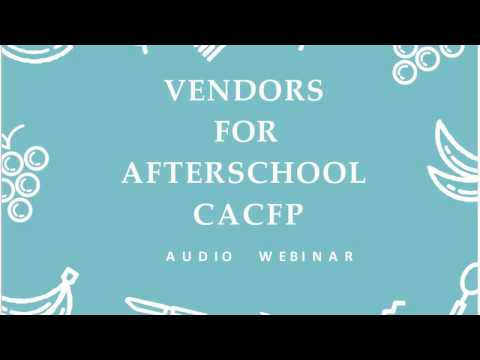 Vendors for Afterschool CACFP