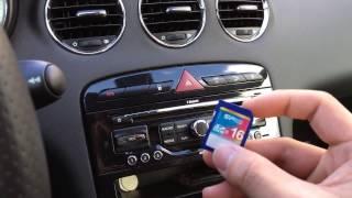 Mise à jour/upgrade du firmware et de la cartographie 2013-2014 WIP NAV Peugeot 308 via carte SD