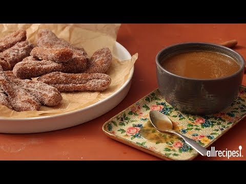 Dessert Recipes – How to Make Pumpkin Spice Churros with Salted Maple Caramel Dip