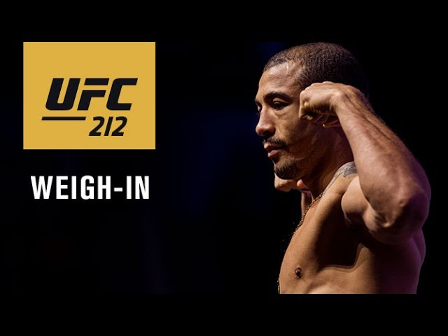 UFC 212: Official Weigh-in