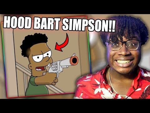 IF BART SIMPSON WAS BLACK! | Cartoon Connect: The Johnsons (Parody) Reaction!