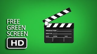 Free Green Screen - Animated Movie Clapperboard