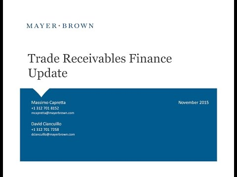 Trade Receivables Finance Update