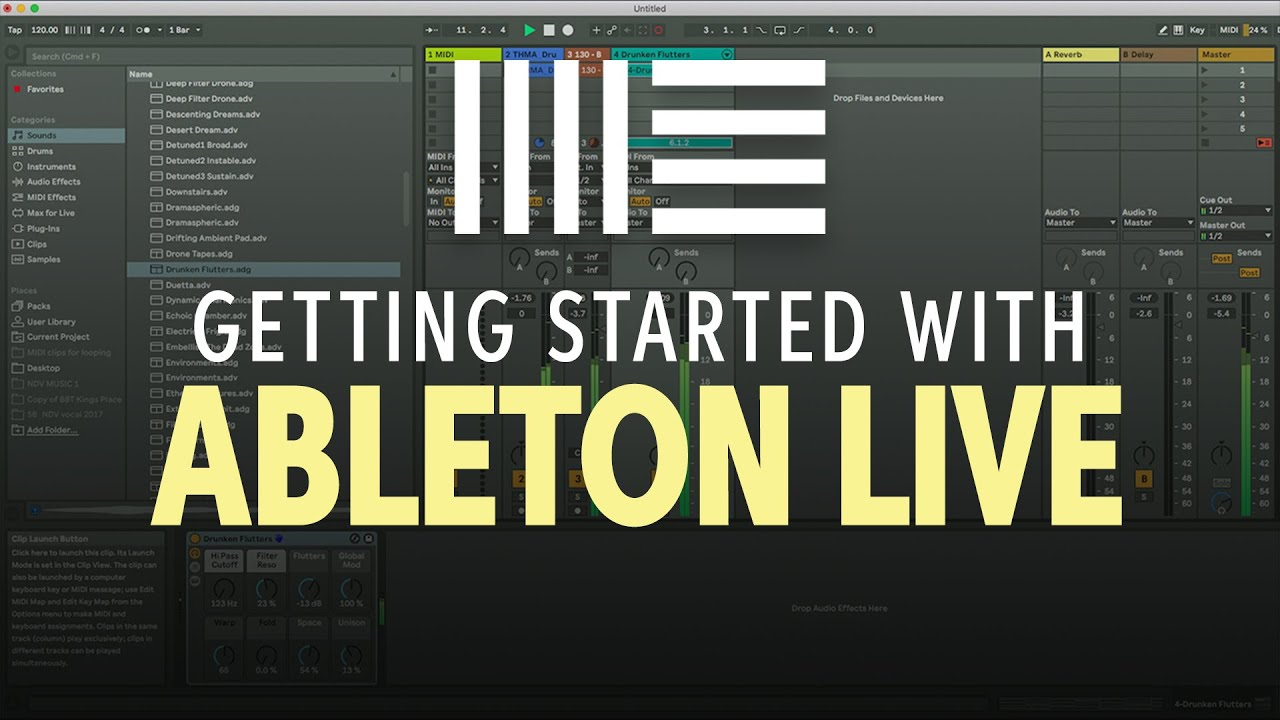 Nick D'Virgilio how to get started with Ableton Live