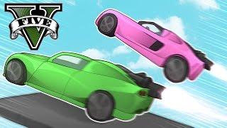 INSANE ROCKET CAR RACES! GIRLFRIEND VS BOYFRIEND! (GTA 5 Online Multiplayer Gameplay)