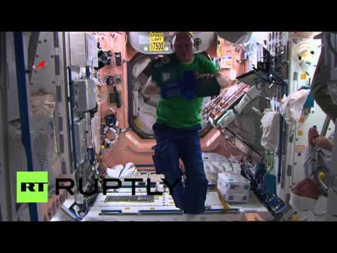 Space: See ISS crew show off their circus skills in zero gravity