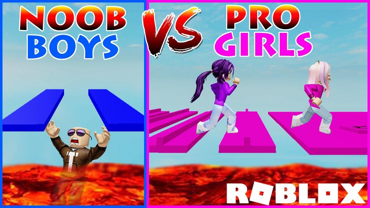 Roblox Game Boys And Girls Noob Vs Pro Boys Vs Girls Obby Roblox Youtube