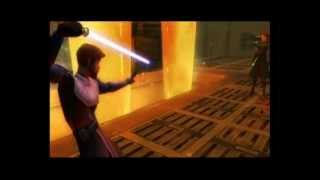 Star Wars: The Clone Wars - Lightsaber Duels (Wii) Gameplay: Anakin Skywalker vs Obi-Wan Kenobi