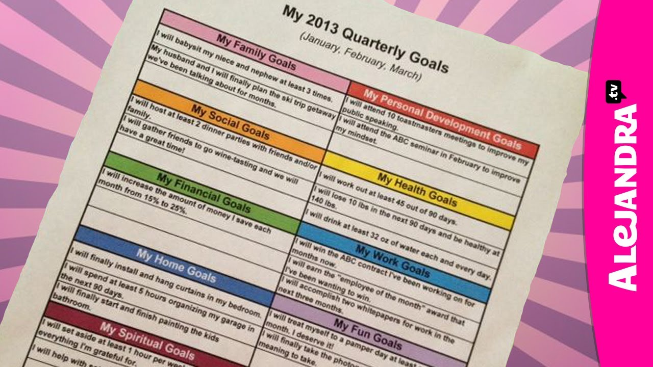Getting Organized With Goal Setting New Year New You Youtube