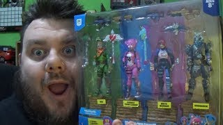 Fortnite Squad Mode 4 Pack Action Figure Unboxing Jazwares Fortnite Toy Review Fortnite