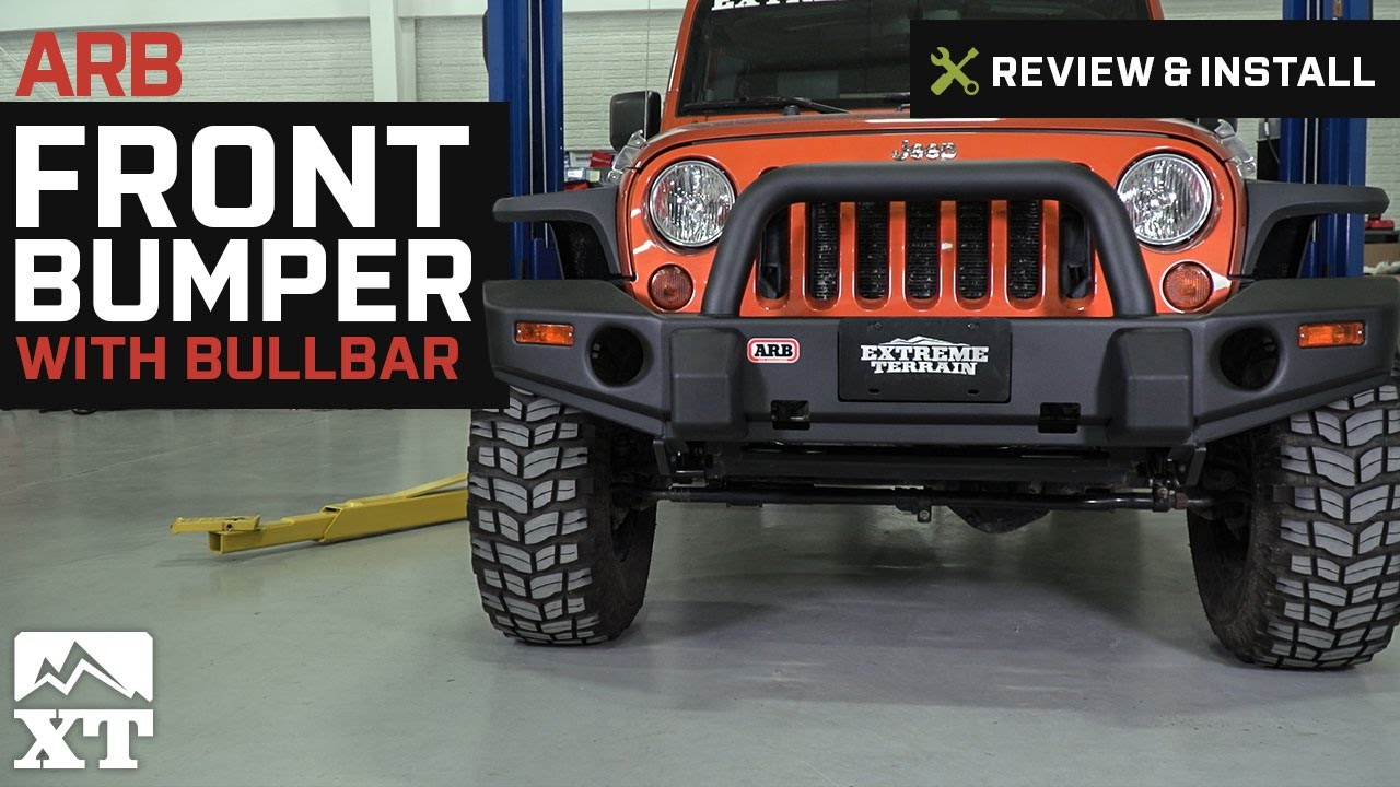 hight resolution of arb jeep wrangler front bumper w bullbar 3450230 07 18 jeep wrangler jk